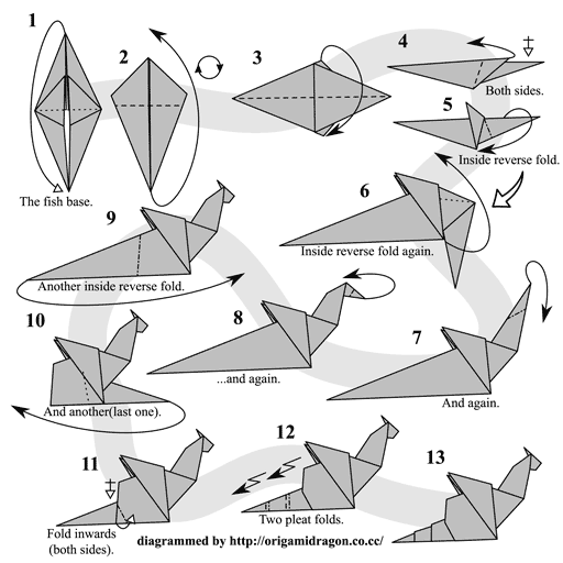 comment faire origami dragon